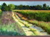 Image of the painting - Through the Fields by local artist Jim Rehak.