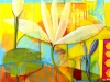 Deborah Rolig\'s sunny and bright colored painting named the Jewel in the Lotus