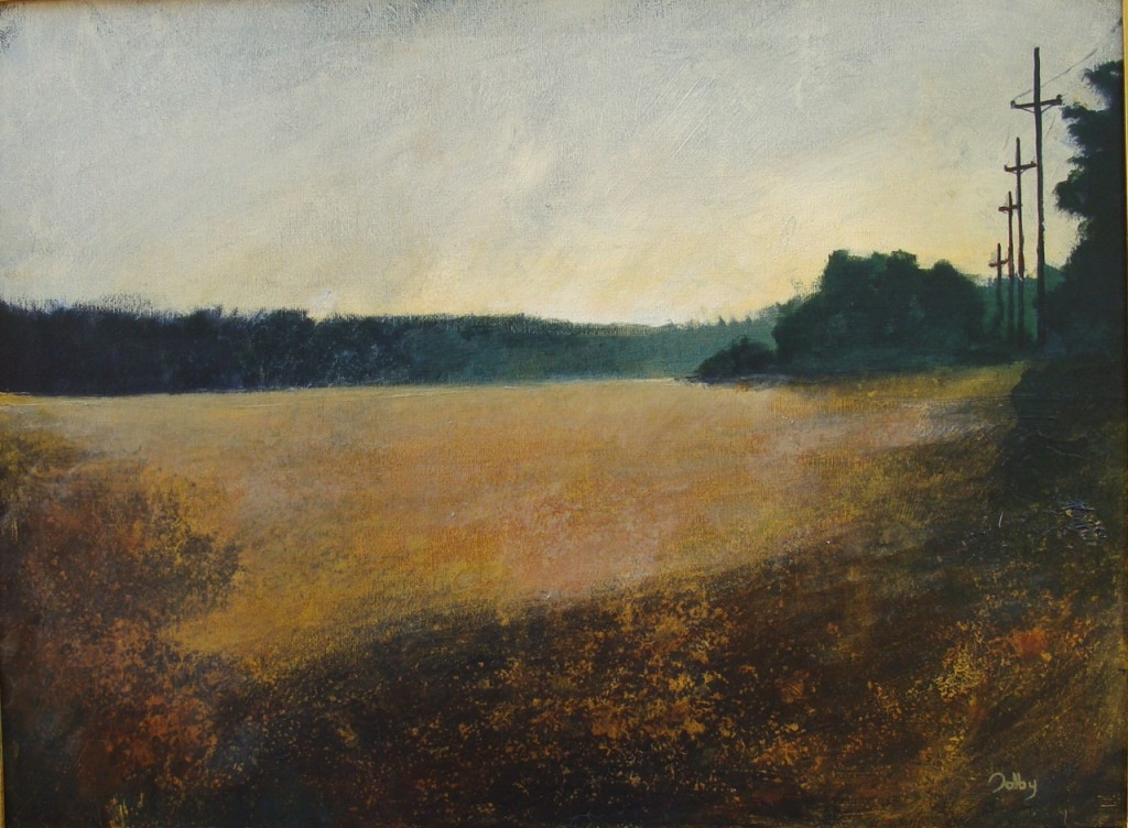 Image of acrylic tonal local landscape