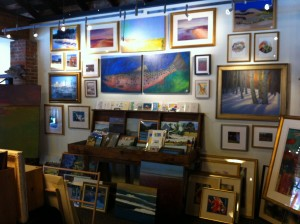 Display of sale paintings