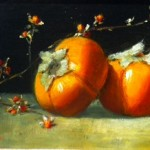 Oil painting of permissions and bittersweet by Lois Engberg