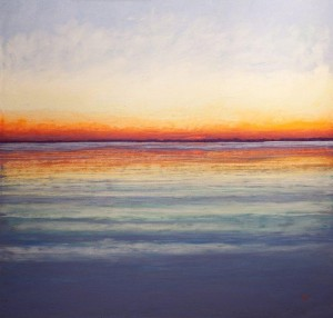 Pastel painting of sunrise by Stan Sperlak