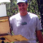Photo of Kirk McBride painting