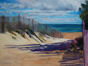 Plein Air painting of seascape by Jim Rehak