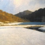Oil painting of Snowfield by Fred Sprock