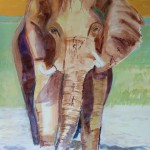watercolor of an elephant by Angela Herbert-Hodges