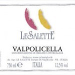 label for Le Salette Valpolicella wine from Veneto