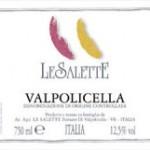 label for Le Salette Valpolicella wine from Veneto