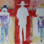 Watercolor of 3 women by Angela Herbert-Hodges