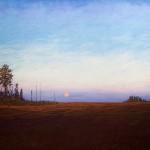 Pastel of night sky by Stan Sperlak
