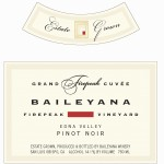 label for Baileyana Firepeak Pinot Noir 2011 featured at Bishop's Stock