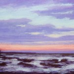 Pastel of early evening by Stan Sperlak