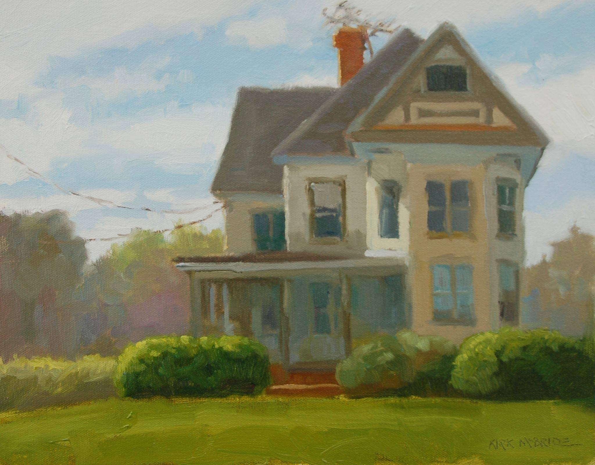 Plein air paintings from paint snow hill featured in may for Classic house painting
