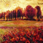 painting of poppy field by Maurice Sevigny