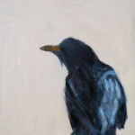 I Have Seen the Moment of My Greatness Flutter 28x2 oil on canvas by Ann Hayden
